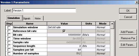 Optical System - Figure 6 SOA Gaussian Pulse Simulation parameters
