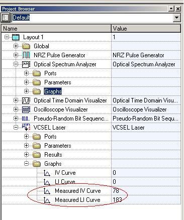 Optical System - Figure 3 - Graphs folder for the VCSEL laser
