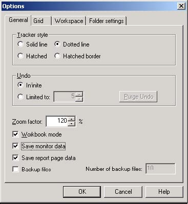 Optical System - Figure 27 - Options dialog box—Save Monitor Data selection
