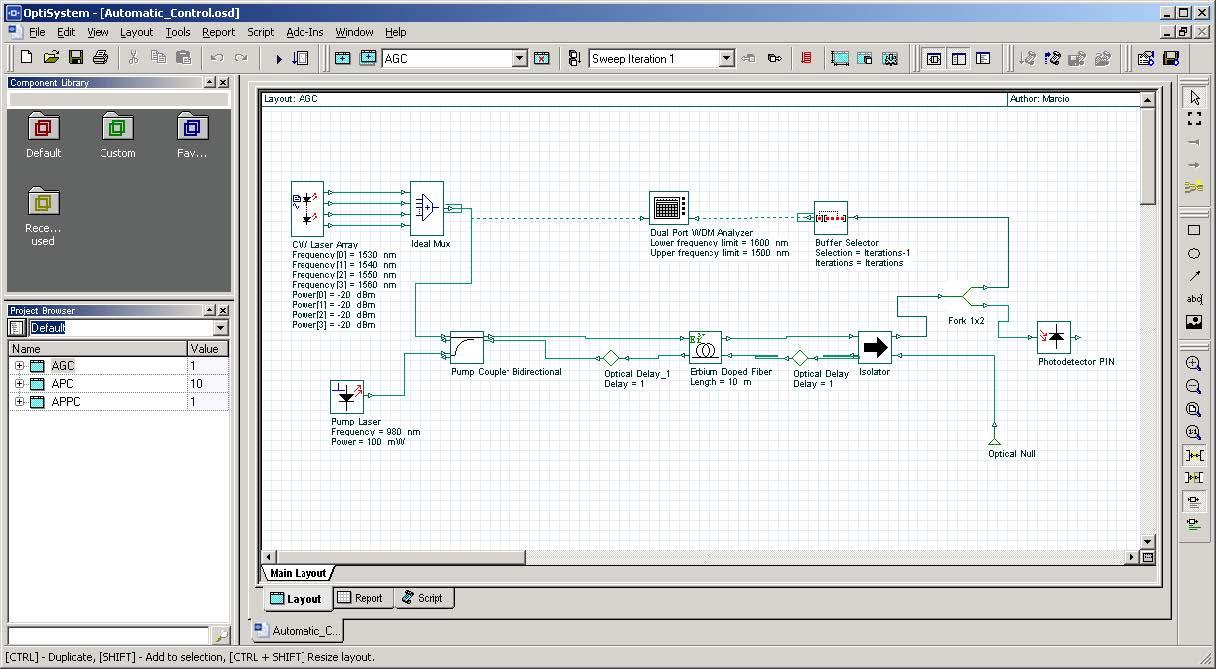 Automatic Control Simulation