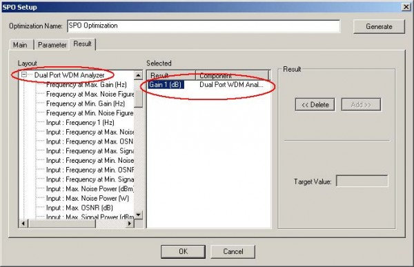 Optical System - Figure 24 - SPO Setup window at the Result tab
