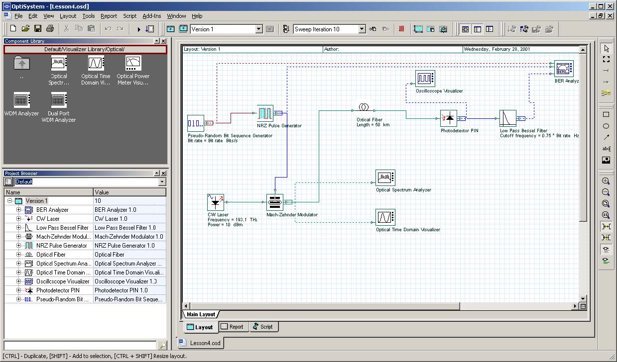 Optical System - Figure 1 - Sample file that calculates BER x Input power