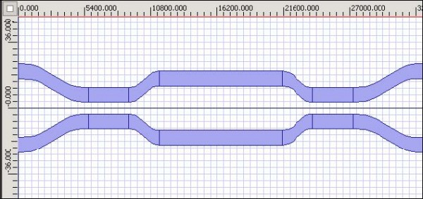 BPM - Figure 4 Completed waveguide design
