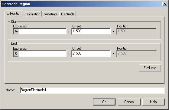 BPM - Figure 8 Electrode Region dialog box