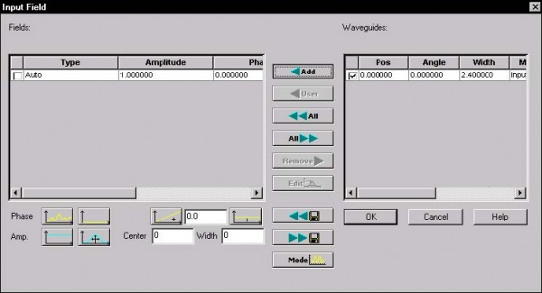 BPM -Figure 4 Input Field dialog box