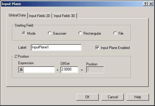 BPM - Figure 1 Input Plane Properties dialog box