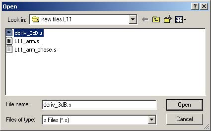 BPM - Figure 15 Open dialog box