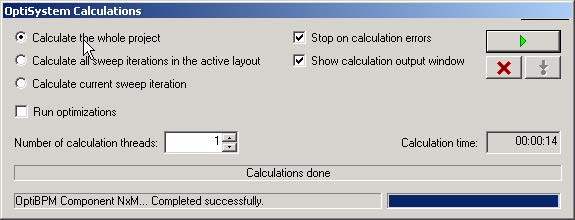 BPM - Figure 25 OptiSystem Calculations dialog box