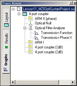 BPM -Figure 27 Optical Filter Analyzer under Project Browser