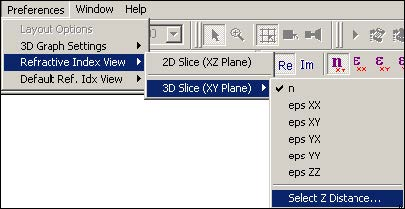 BPM - Figure 6 Preferences menu