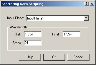 BPM - Figure 6 Scattering Data Scripting dialog box