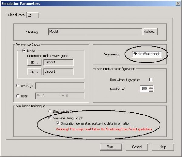 BPM - Figure 8 Simulation Parameters dialog box