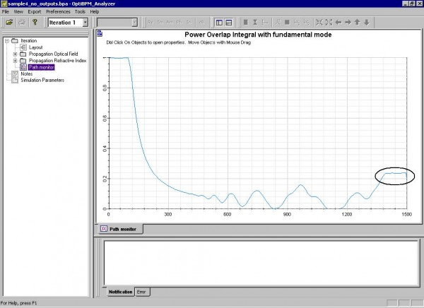 BPM - Figure 19 Simulation results — Path Monitor view (one path)