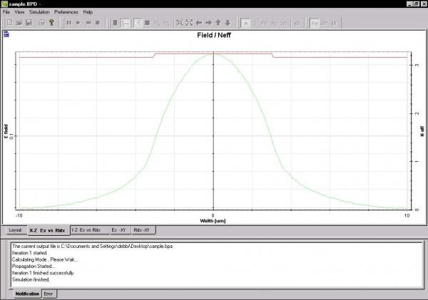 BPM - Figure 7 X-Z Ex vs RIdx results