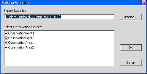 FDTD - Figure 7 Setting Snapshot dialog box