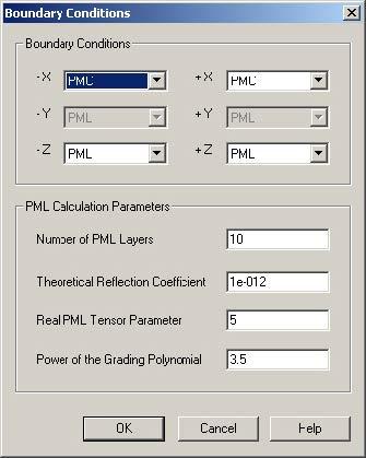 FDTD - Figure 103 2D simulation parameters
