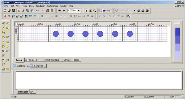 FDTD - Figure 102 Defined PBG structure in layout window