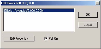 FDTD - Figure 89 Edit Basis Cell dialog box