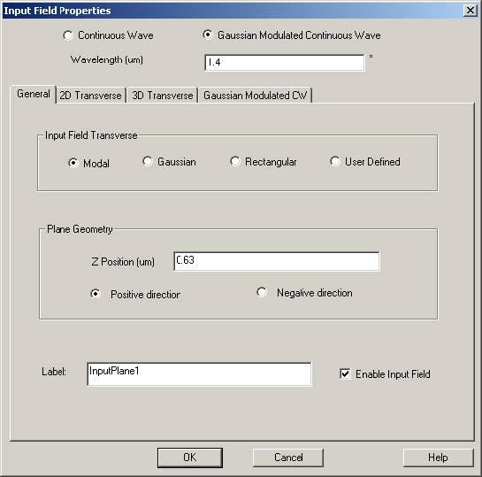FDTD - Figure 22 General tab