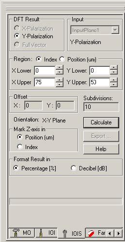 FDTD - Figure 56 IOIS tab