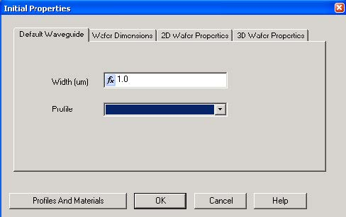 FDTD - Figure 2 Initial Properties dialog box