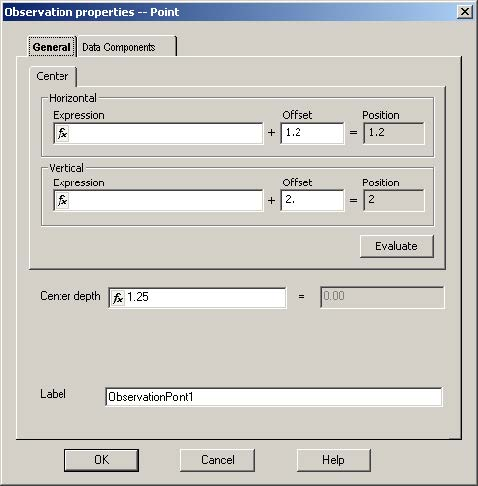 FDTD - Figure 33 Observation properties -- Point dialog box