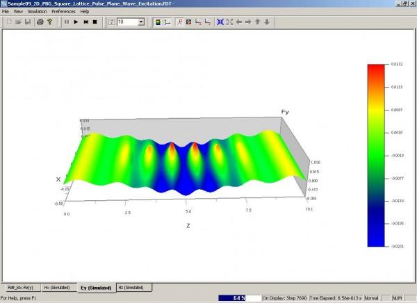 FDTD - Figure 104 OptiFDTD Simulator—Wave propagation