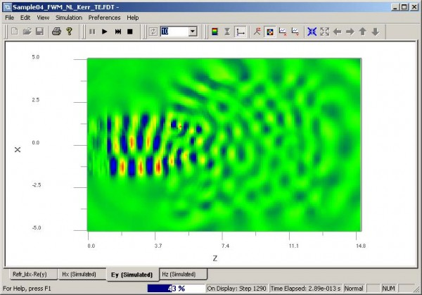 FDTD - Figure 21 OptiFDTD Simulator—wave propagation pattern in time domain