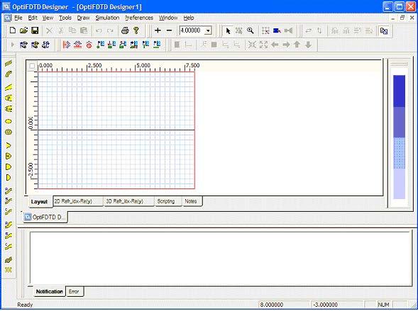 FDTD - Figure 12 OptiFDTD layout Designer
