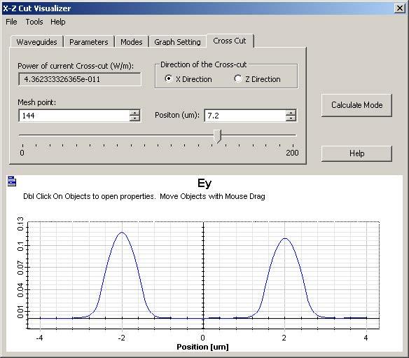 FDTD - Figure 8 X-Z Cut Visualizer dialog box