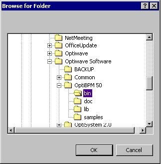 BPM - Figure 38 Browse for Folder dialog box