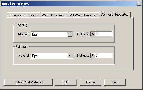 BPM - Figure 6 Defining Layout settings - 3D Wafer Properties