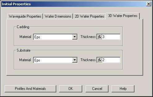 BPM - Figure 6 Defining Layout settings - 3D Wafer Properties
