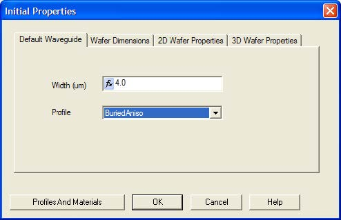 BPM - Figure 5 Defining Layout settings - Wafer Dimensions