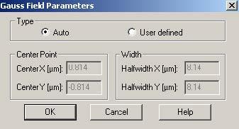 BPM - Figure 10 Gauss Field Parameters dialog box