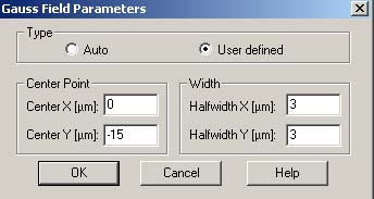 BPM - Figure 10 Gauss Field Parameters dialog box