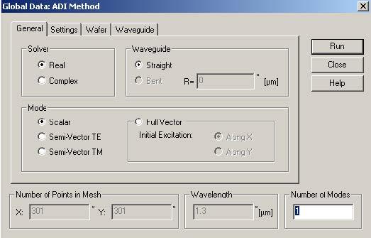 BPM - Figure 9 Global Data:ADI Method dialog box