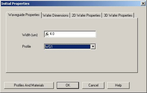 BPM - Figure 3 Initial Properties dialog box