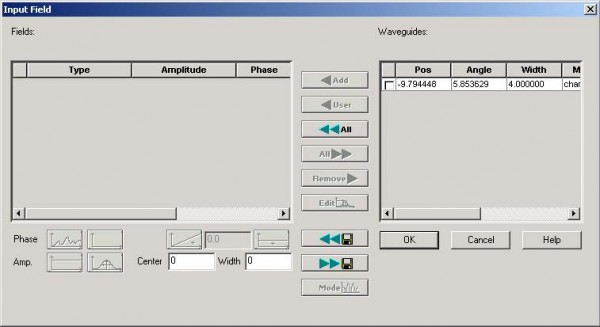 BPM - Figure 12 Input Field dialog box