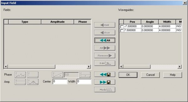 BPM - Figure 21 Input Field dialog box