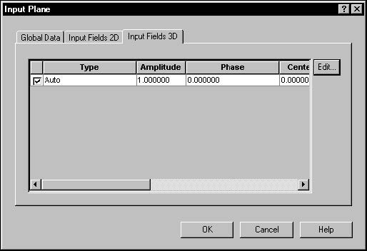 BPM - Figure 11 Input Field dialog box