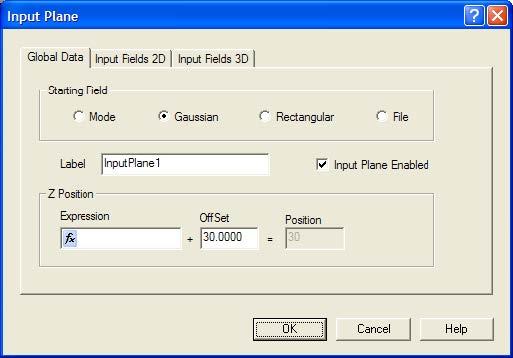 BPM - Figure 4 Input Plafne dialog box – Global Data tab