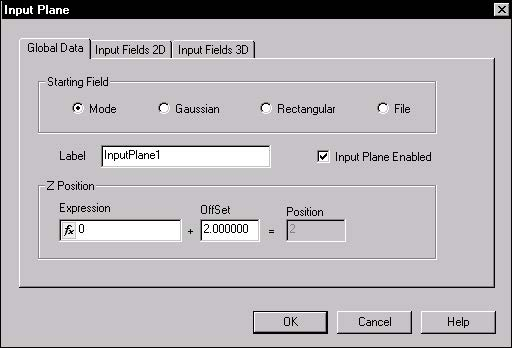BPM - Figure 15 Input Plane Properties dialog box