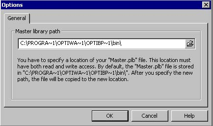 BPM - Figure 37 Options dialog box