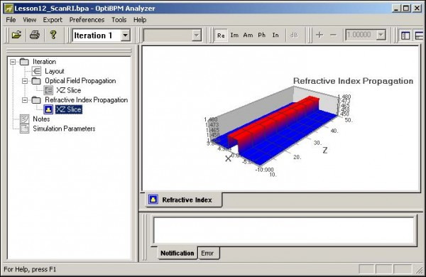 BPM - Figure 14 Refractive Propagation Index—XZ Slice