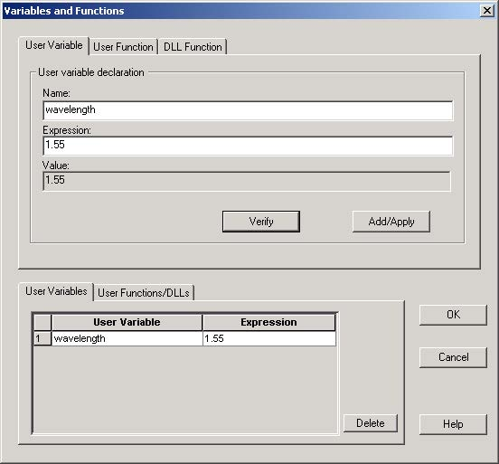 BPM - Figure 13 Settings in Variables and Functions dialog box