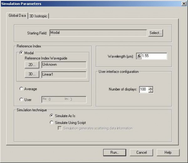 BPM - Figure 28 Simulation Parameters dialog box