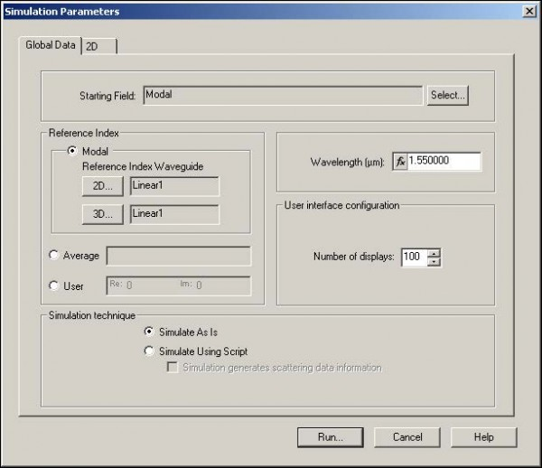 BPM - Figure 22 Simulation Parameters dialog box