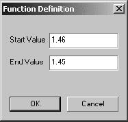 Optical Grating - Function Definition dialog box