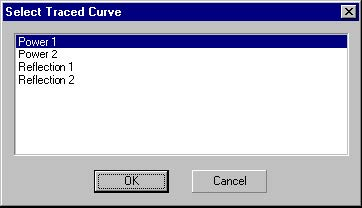 Optical Grating - Select Traced Curve
